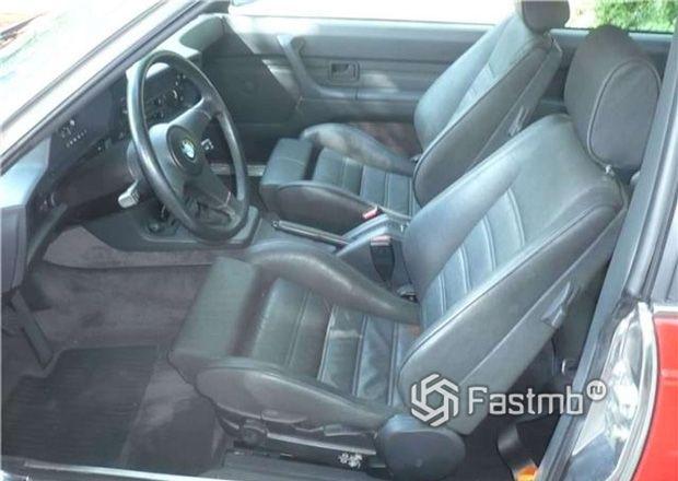 BMW 635 CSi, интерьер