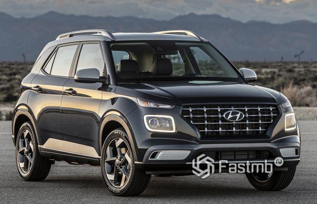 Hyundai Venue 2020, вид спереди