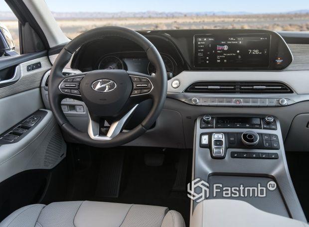 Hyundai Palisade 2020, передняя панель