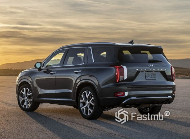 Hyundai Palisade 2020, вид сзади