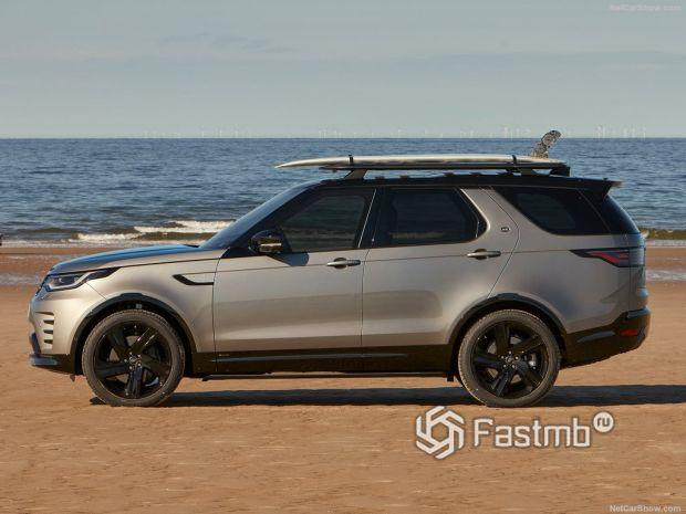 Land Rover Discovery 2021, вид сбоку слева