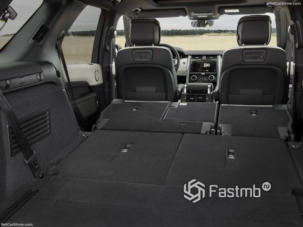 Салон Land Rover Discovery 2021, багажник