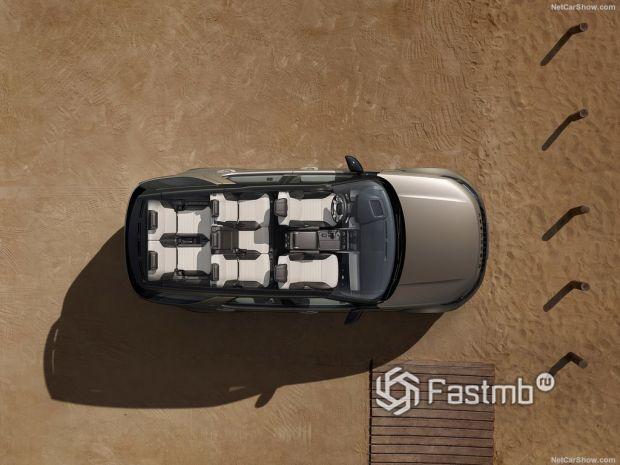 Салон Land Rover Discovery 2021, вид сверху на интерьер
