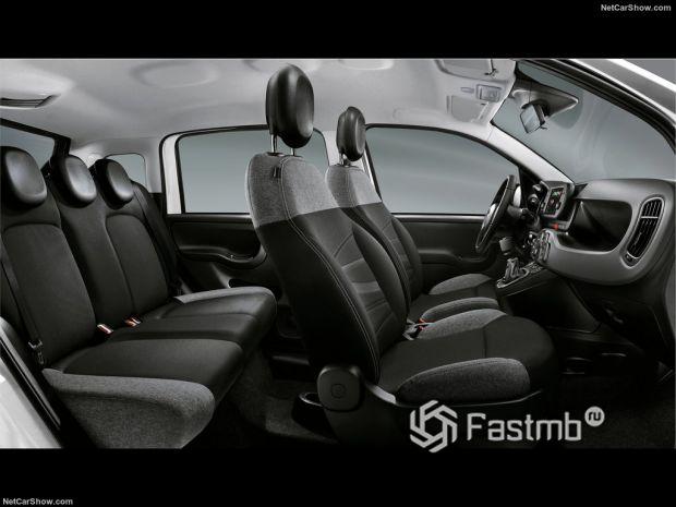 Салон Fiat Panda 2021, интерьер