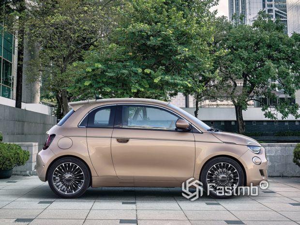 Fiat 500 3+1 2021, вид сбоку справа