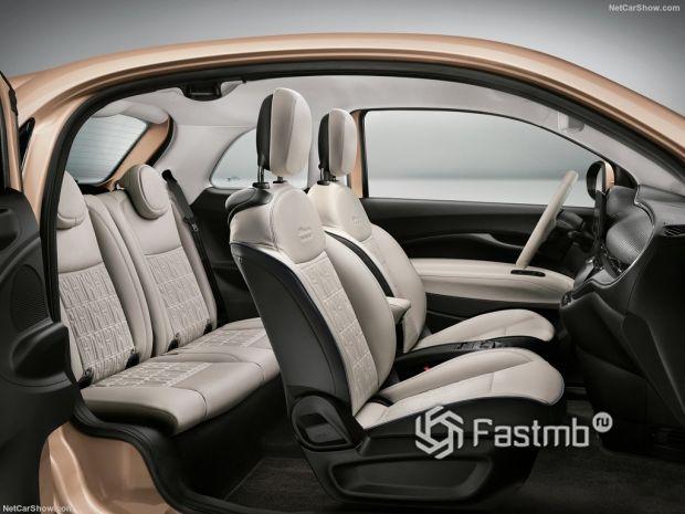 Салон Fiat 500 3+1 2021, интерьер