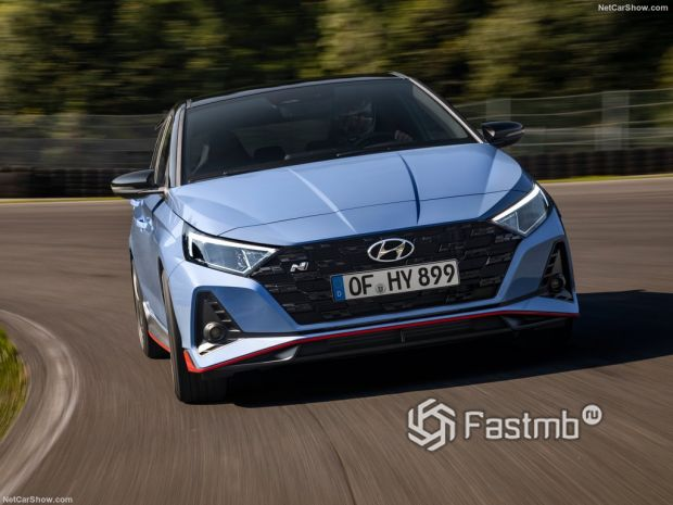 Hyundai i20 N 2021, вид спереди