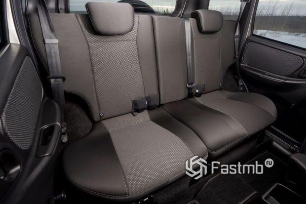 Lada Niva Travel 2021, второй ряд сидений