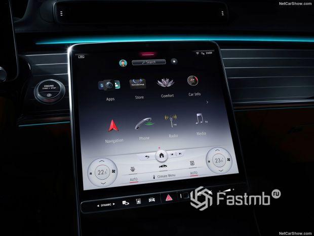 Салон Mercedes-Benz S-Class 2021, мультимедиа