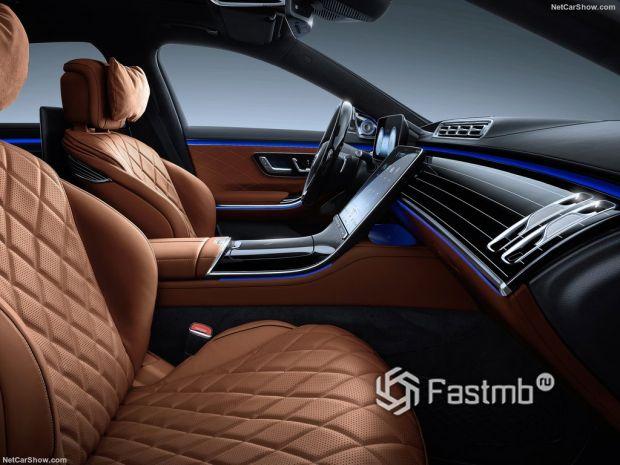 Салон Mercedes-Benz S-Class 2021, передние сидения