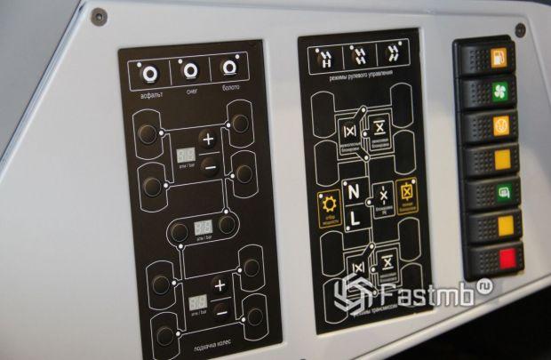 Shaman 8x8 2020, панель управления для водителя