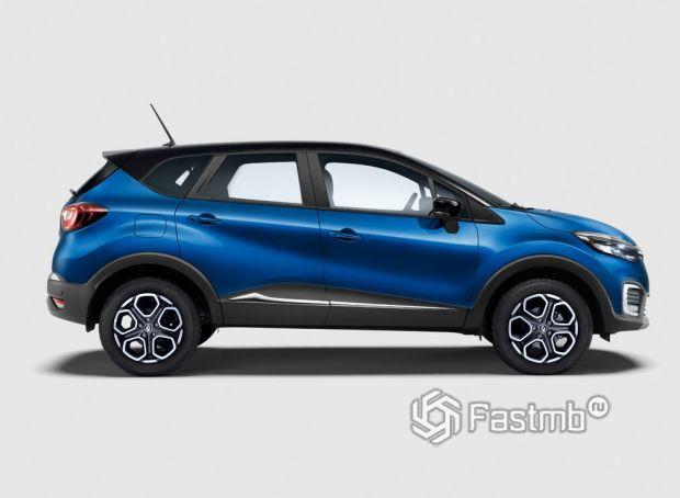 Renault Kaptur 2020 рестайлинг, вид сбоку