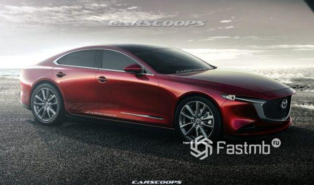 Прототип Mazda 6 2023, вид сбоку