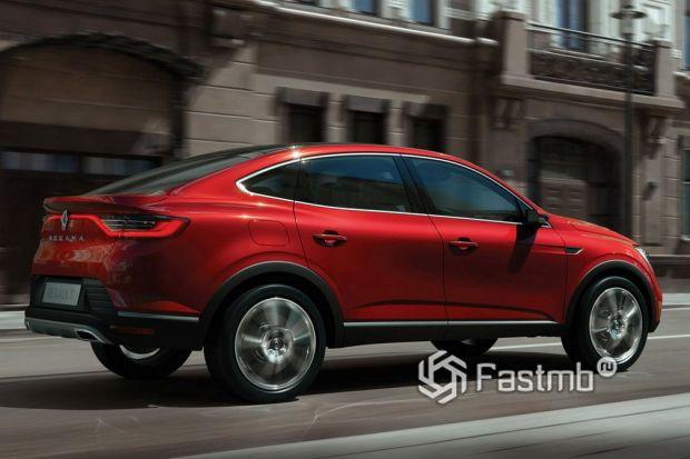 Renault Arkana 2018, люк топливного бака
