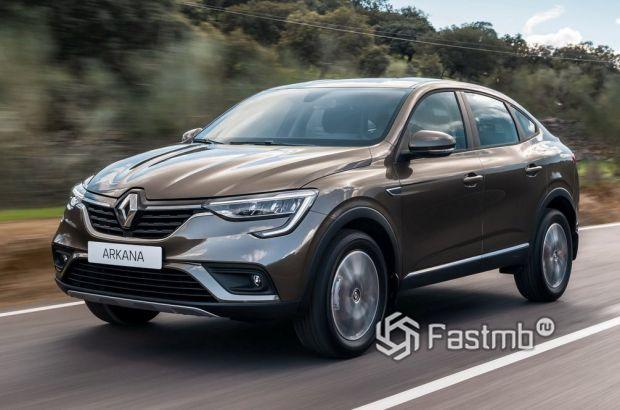 Renault Arkana 2018, передняя оптика