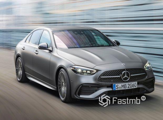 Mercedes-Benz C-Class 2022, передняя оптика