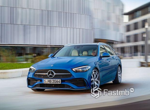 Mercedes-Benz C-Class 2022 универсал, вид спереди