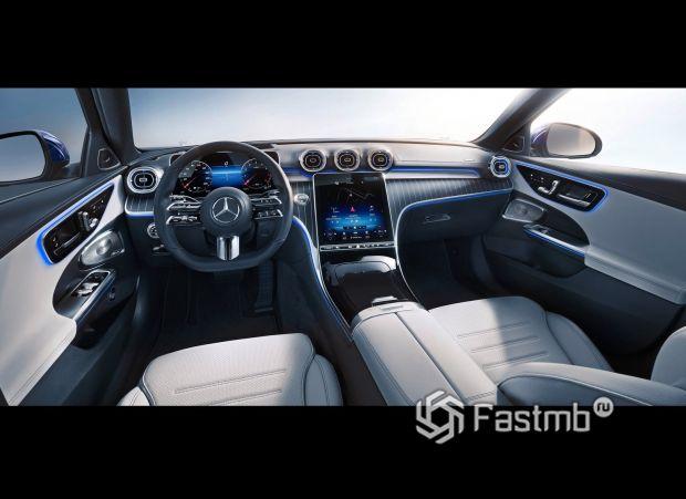 Mercedes-Benz C-Class 2022 универсал, центральный тоннель