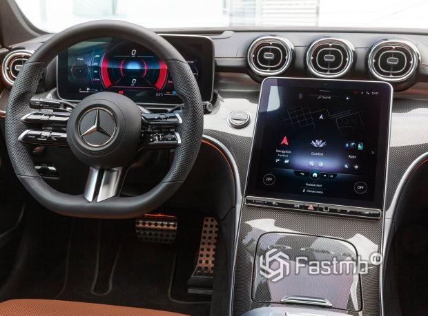 Mercedes-Benz C-Class 2021, центральный дисплей