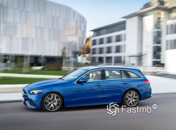Mercedes-Benz C-Class 2021 универсал, боковая часть