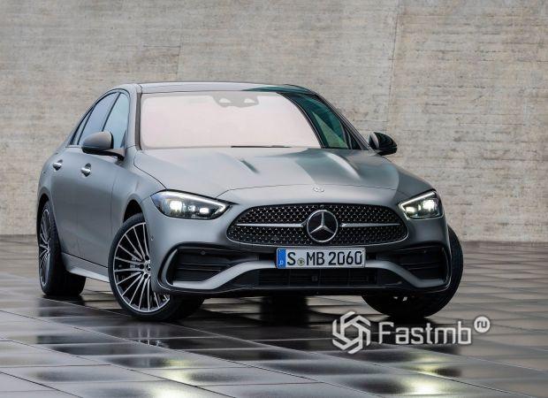 Mercedes-Benz C-Class 2021 седан, решетка радиатора
