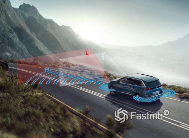 Peugeot 5008 2021, системы безопасности