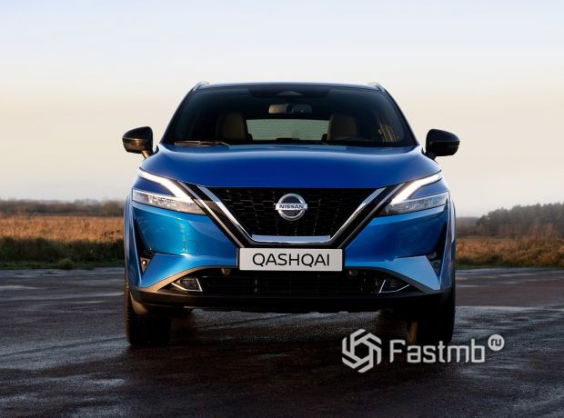 Nissan Qashqai 2022, передняя оптика