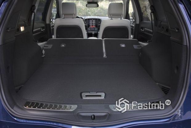 Renault Koleos 2017, багажное отделение