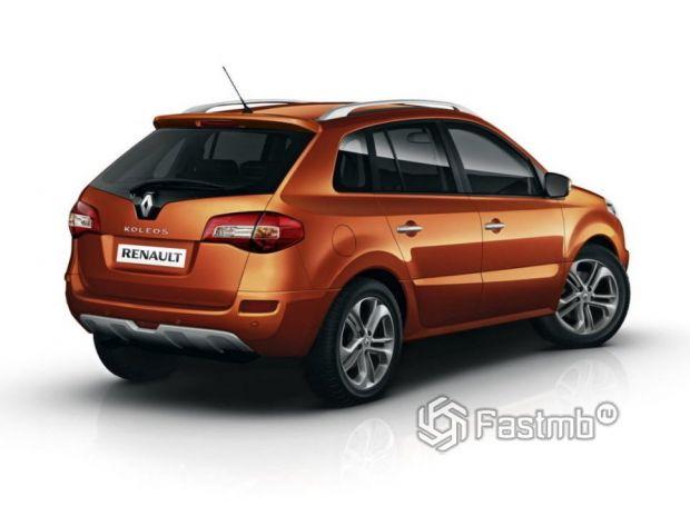 Renault Koleos 2011 ресталийнг, вид сзади