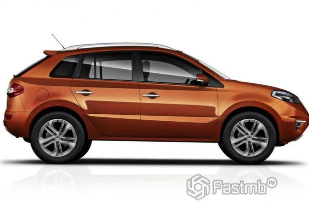 Renault Koleos 2011 рестайлинг, вид сбоку