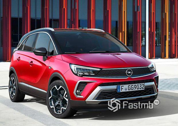 Opel Crossland 2021, вид спереди