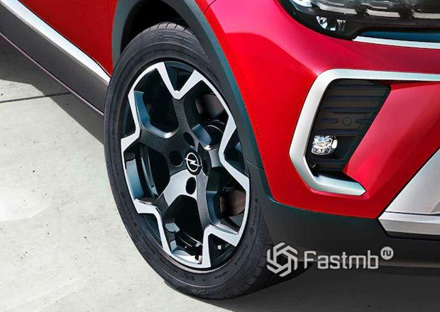 Opel Crossland 2021, колесные диски