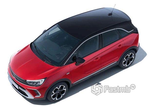 Opel Crossland 2021, крыша