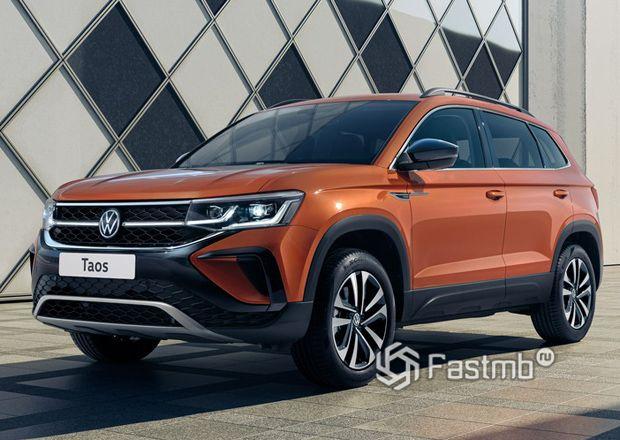Volkswagen Taos 2021, вид спереди