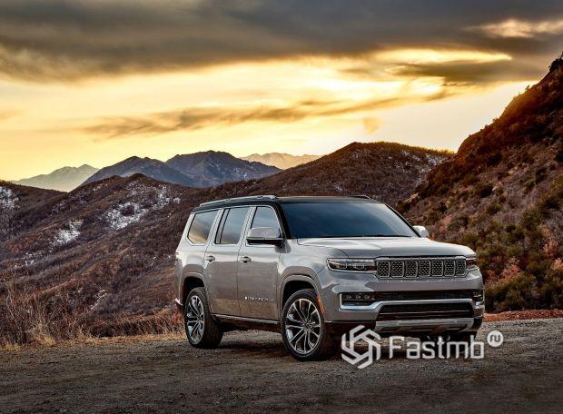 Jeep Grand Wagoneer 2022, оптика внедорожника