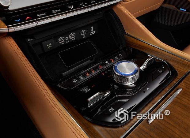 Jeep Grand Wagoneer 2022, USB порты за дисплеем климат-контроля