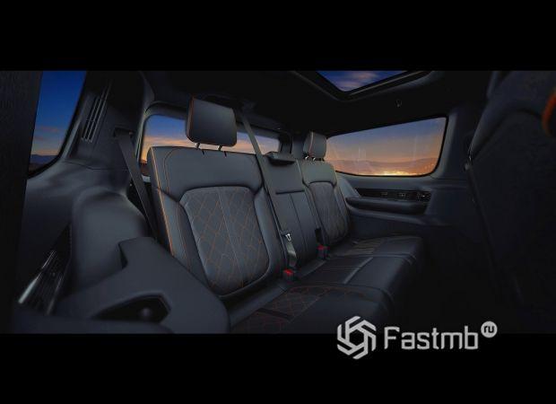 Jeep Grand Wagoneer 2022, третий ряд сидений