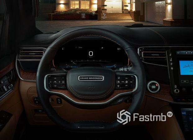 Jeep Grand Wagoneer 2022, панель приборов