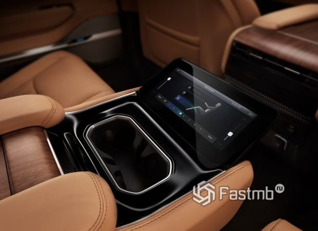 Jeep Grand Wagoneer 2021, дисплей климат-контроля 2-го ряда сидений