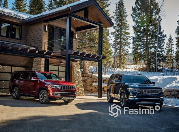 Jeep Wagoneer и Grand Wagoneer 2022, вид спереди