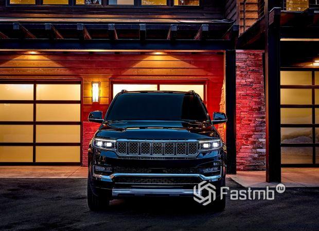 Jeep Grand Wagoneer 2022, светодиодные ходовые огни