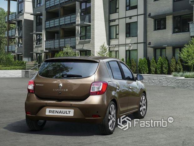 Renault Sandero 2018 рестайлинг, вид сзади