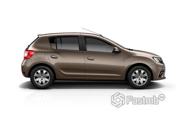 Renault Sandero 2018 рестайлинг, вид сбоку