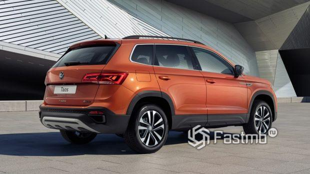 Volkswagen Taos 2021, вид сзади