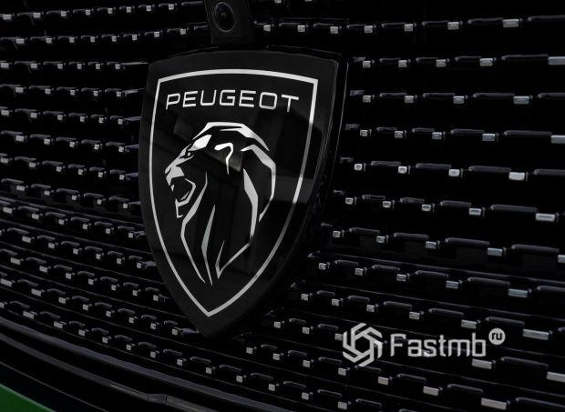 Peugeot 308 2021, новая эмблема компании