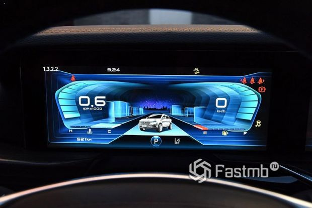 FAW Bestune T77 2021, цифровая панель приборов