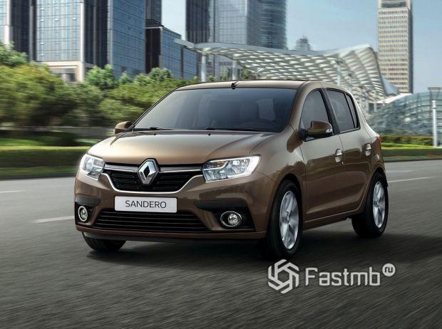 Renault Sandero 2018, вид спереди