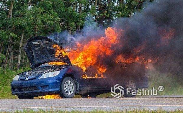 Основные причины возгорания автомобилей