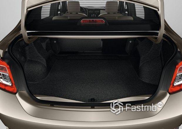 Renault Logan 2013, багажное отделение