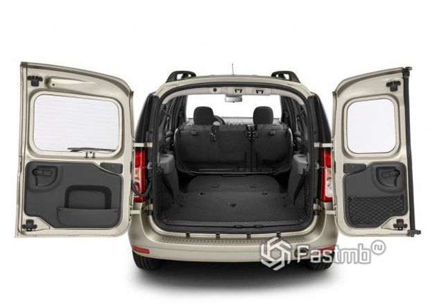 Renault Logan 2009, багажное отделение